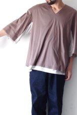 画像10: ETHOSENS / レイヤーVネックTシャツ (10)