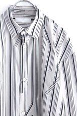 画像14: ETHOSENS / ツイストストライプワイドスリーブシャツ (14)