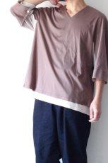 画像12: ETHOSENS / レイヤーVネックTシャツ (12)