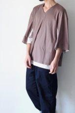 画像5: ETHOSENS / レイヤーVネックTシャツ (5)