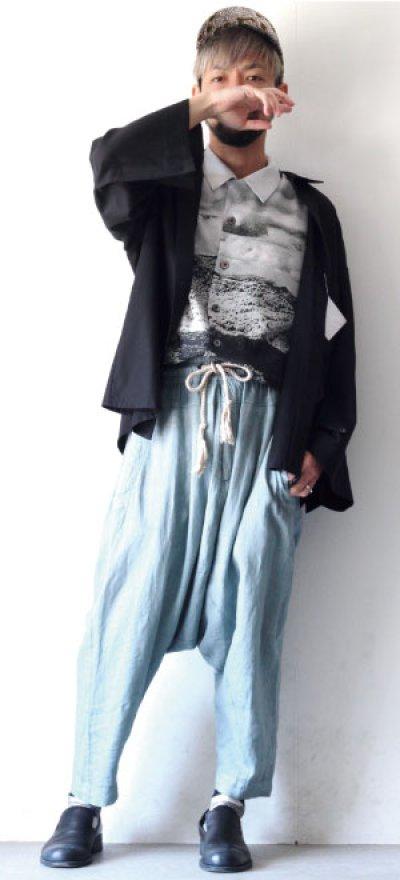 画像1: ETHOSENS / ワイドスリーブシャツ