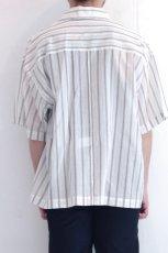 画像7: UNDECORATED / ストライプ半袖シャツ (7)