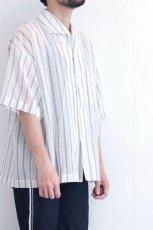 画像9: UNDECORATED / ストライプ半袖シャツ (9)