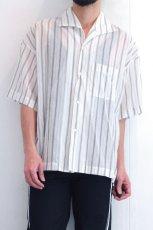 画像10: UNDECORATED / ストライプ半袖シャツ (10)