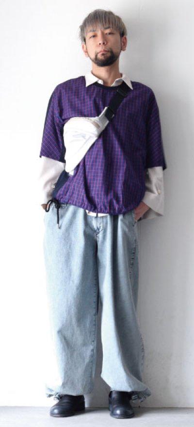 画像2: FFIXXED STUDIOUS / チェック切替Tシャツ