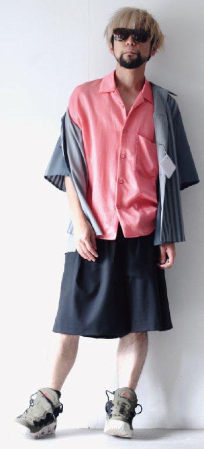画像1: S I S E / オープンカラーシャツ