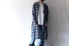 画像8: S I S E / ロングチェックシャツ (8)