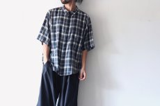 画像3: S I S E / ビッグポケットチェックシャツ (3)