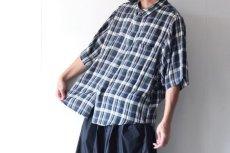 画像10: S I S E / ビッグポケットチェックシャツ (10)