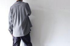 画像4: ETHOSENS / ハニカムクロスシャツ (4)
