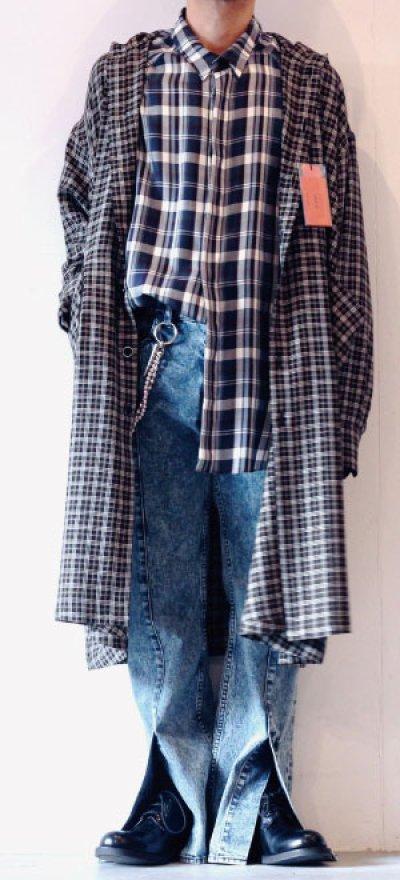 画像1: S I S E / バルーンチェックシャツ