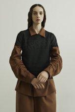 画像2: ETHOSENS / ギャザースリーブシャツ (2)