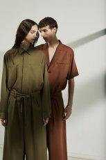 画像2: ETHOSENS / ショートスリーブジャケットシャツ (2)