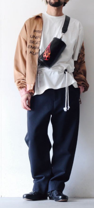 画像1: ETHOSENS / ロープベルトTシャツ