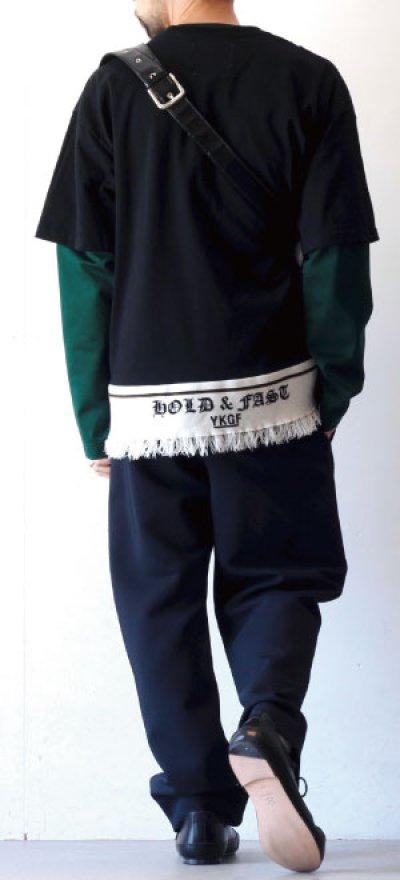 画像1: yoshio kubo GROUNDFLOOR / フリンジテープTシャツ