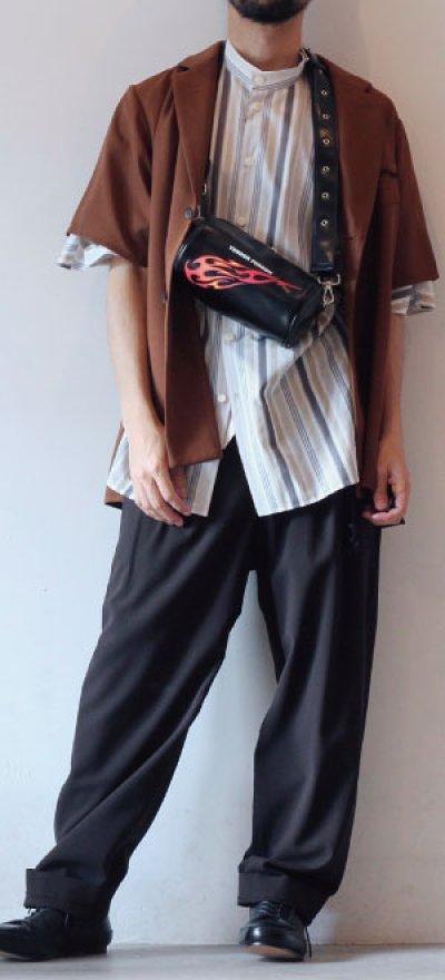 画像1: ETHOSENS / ショートスリーブジャケットシャツ