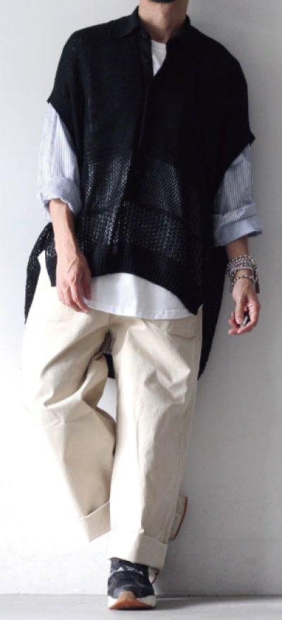 画像2: soe / ドッキングプルオーバーシャツ