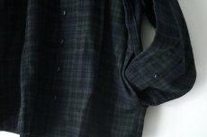 画像15: STOF / チェックノーカラーシャツ (15)