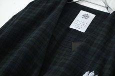 画像17: STOF / チェックノーカラーシャツ (17)