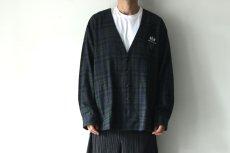 画像4: STOF / チェックノーカラーシャツ (4)