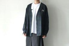 画像12: STOF / チェックノーカラーシャツ (12)