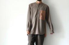 画像4: TAUPE / バンドカラーシャツ (4)