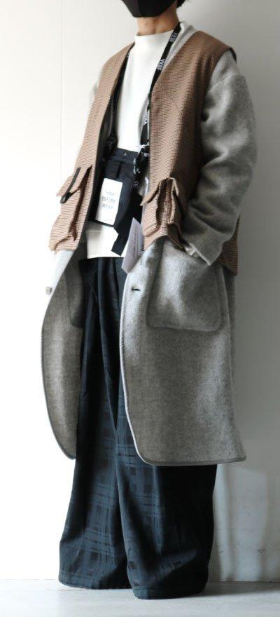 画像1: SISE / ポケットタックパンツ