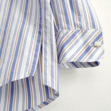 画像18: TAUPE /マルチストライプクレリックバンドカラーシャツ (18)