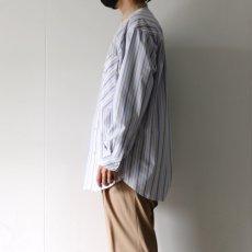 画像7: TAUPE /マルチストライプクレリックバンドカラーシャツ (7)