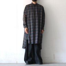 画像2: SISE / ロングチェックシャツ (2)