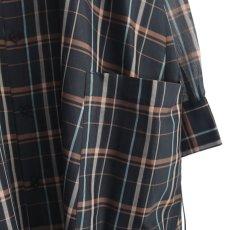 画像13: SISE / ロングチェックシャツ (13)