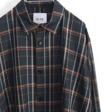 画像12: SISE / ロングチェックシャツ (12)