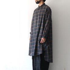 画像4: SISE / ロングチェックシャツ (4)