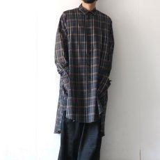 画像3: SISE / ロングチェックシャツ (3)