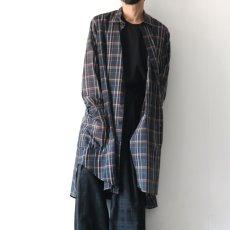 画像11: SISE / ロングチェックシャツ (11)