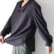 画像12: ETHOSENS / ドロップネックシャツ (12)