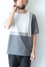 画像3: ETHOSENS / スクウェアパネル切替Tシャツ (3)