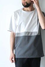 画像8: ETHOSENS / スクウェアパネル切替Tシャツ (8)