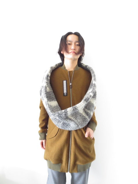 z b ツェットベー xl scarf inside out ビッグスヌード の通販