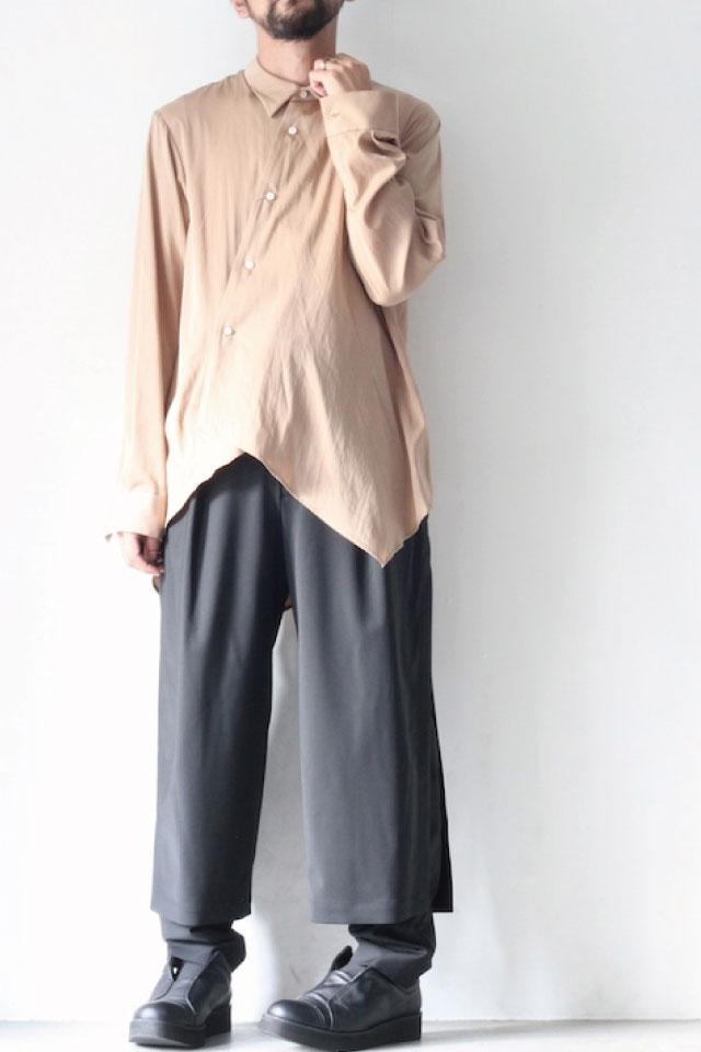 画像1: ETHOSENS / テンセルアシンメトリーシャツ (1)