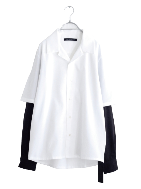 画像1: liberum arbitrium / レイヤードオープンカラーシャツ (1)