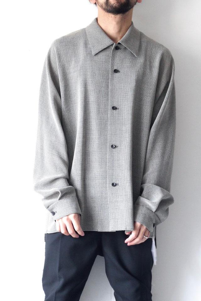 画像1: ETHOSENS / リラックスウールシャツ (1)