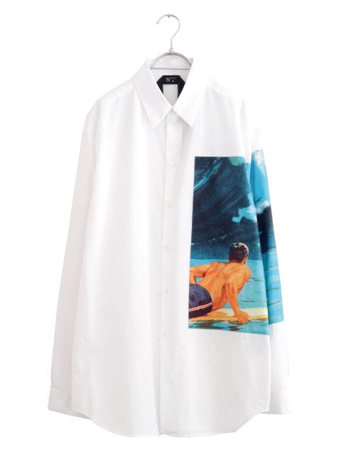 画像1: N°21 / サーフィンプリントシャツ (1)