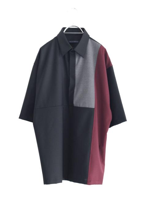 画像1: liberum arbitrium / パネルカラーハーフスリーブシャツ (1)