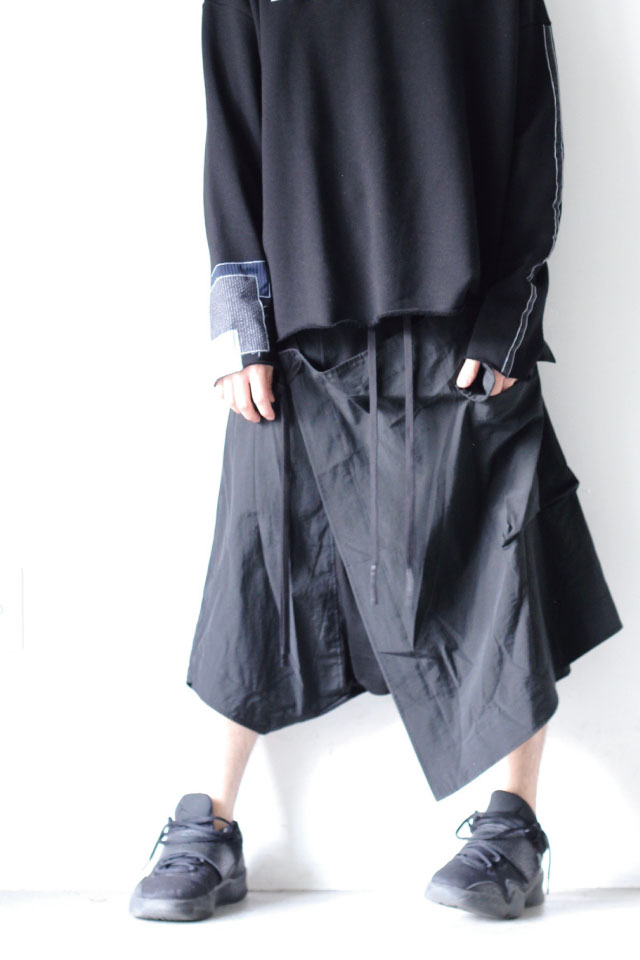 画像1: A.F ARTEFACT / スカート付サルエルパンツ (1)