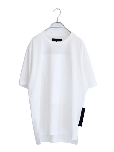 画像1: SUFFICIENT / サイドスリットプリントTシャツ (1)