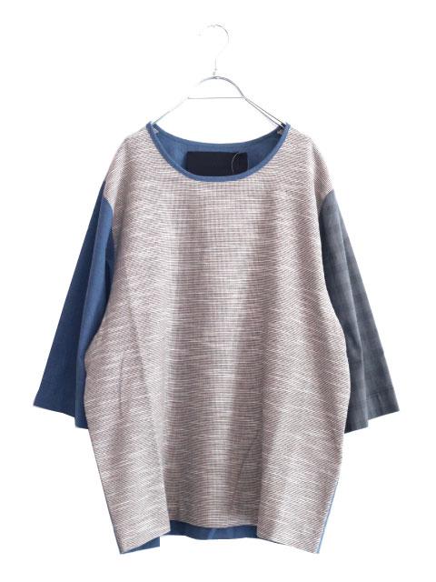 画像1: VLADIMIR KARALEEV / 切替ビッグTシャツ (1)
