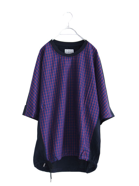 画像1: FFIXXED STUDIOUS / チェック切替Tシャツ (1)