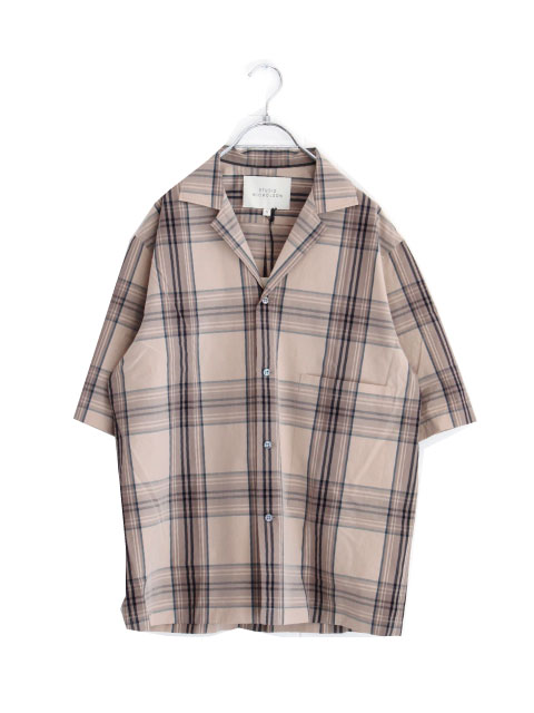 画像1: STUDIO NICHOLSON / SHORT SLEEVE CAMP COLLAR SHIRT (1)