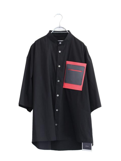 画像1: LIBERUM /リタッチャブルレザーポケットシャツ (1)
